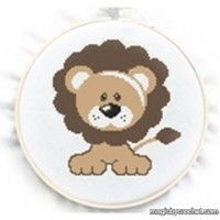 Baby Lion Cross Stitch Chart Pattern, PDF instant download, No.070, Instructions