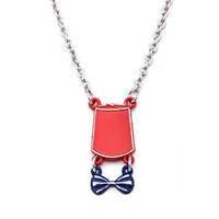 Doctor Who Fez Hat and Bow Tie Necklace