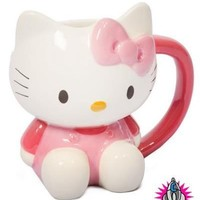 NEW OFFICIAL HELLO KITTY 3D CERAMIC COFFEE MUG CUP IN PRESENTATION GIFT BOX