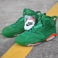 DCCK - Air Jordan 6 'Gatorade' Green Suede