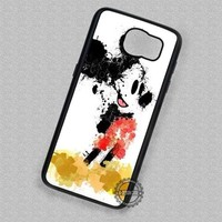 Mickey Mouse Splatter Painting Inspired - Samsung Galaxy S7 S6 S5 Note 7 Cases & Covers