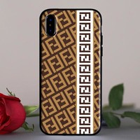 Fendi New fashion more letter couple protective cover phone case