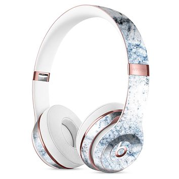 Blue and Black Grunge Over White Marble Surface Full-Body Skin Kit for the Beats by Dre Solo 3 Wireless Headphones