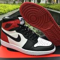 "Air Jordan 1 OG ""Black Toe"" Men Basketball Shoes"