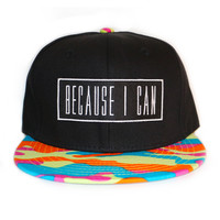 Colored Camo Snapback