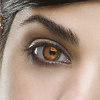 Fine & Clear Honey Coloured Contacts