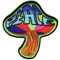 Peace Mushroom Patch Psychedelic Hippie