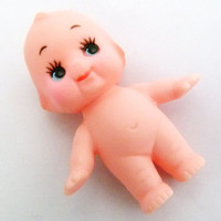 Kewpie Doll Vintage Style Baby Vinyl 5cm Moving Head Small Mini Craft Doll to Dress :0)