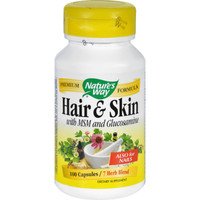 Nature's Way Hair And Skin With Msm And Glucosamine - 100 Capsules