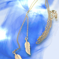 Feathers of Wisdom Charm Necklace