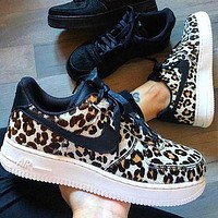 Nike Air Force 1 Nike Air Force One Wild Full Leopard Print Low-top Sneakers Shoes