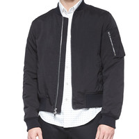 Manston Nylon Bomber Jacket, Black, Size: X-LARGE, BLACK - Rag & Bone