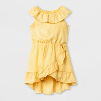 Toddler Girls' Ruffle Hi-Low Dress - Genuine Kids® from OshKosh Yellow