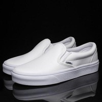 ONETOW Trendsetter Vans Slip-On Classic Leather Flats Sneakers Sport Shoes