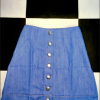 SWEET LORD O'MIGHTY! LOLITA MINI SKIRT IN DENIM BLUE