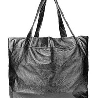 Watery Faux LeatherOversized Tote