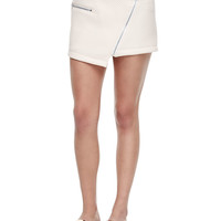 Quilted Asymmetric Miniskirt, Size: