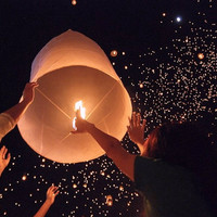 20 White Sky Lanterns - Wish Lanterns 2.99 each
