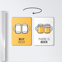 Beer magnet - BUY BEER - chore magnets, beer, chores, roommate gift, magnets, chore board magnet, to do board