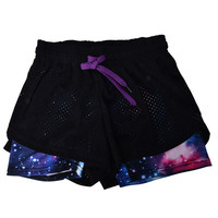 Women Style Mesh Shorts Breathable Running Fitness Shorts Patchwork Elastic Waist Feminina SM6