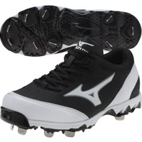 Mizuno Women's 9-Spike Select Fastpitch Softball Cleat - Black/White | DICK'S Sporting Goods