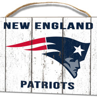 New England Patriots Small Plaque - Weathered Logo