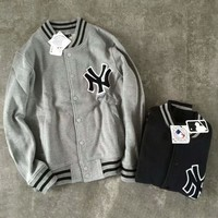 Winter MLB baseball clothing coat jacket couple NY embroidery baseball men and women coat G-YF-MLBKS