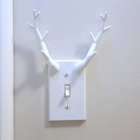 Antler Switchplate Light Cover