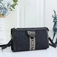 Dior Fashionable Canvas Embroidered Shopping Bag Cross Body Bag Lady