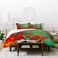 Sophia Buddenhagen Green Stains Duvet Cover