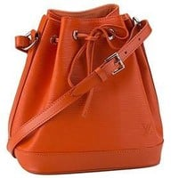 Louis Vuitton Noe BB Epi Orange Drawstring Bag