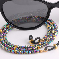 Rainbow Glasses Chains with kaleidoscope colors