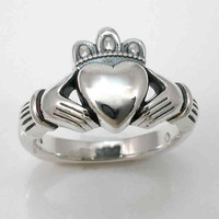 Sterling Silver Claddagh Ring Handmade by SwankMetalsmithing