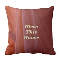 Southwest Pillow Bless This House Square