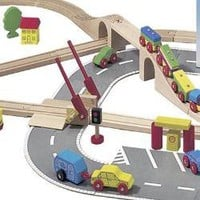 Wooden Road & Rail Set: Tiddley Widdley Toy & Book Store