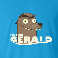 Finding Nemo Dory Francis Gerald Get off our rock Sea lion creepy parody tee t-shirt