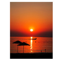 Wall Decor, Silhouette, beach, sunset photography, travel, gift ideas, color, Art Print, home decor, Prints & Posters, 8x12 inch,