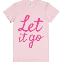 Let It Go T-shirt Pink (idb422148)-Female Light Pink T-Shirt