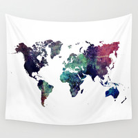 Map of the World After Ice Age Wall Tapestry by Jbjart | Society6