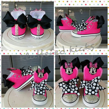 Minnie Mouse with Bow Custom Converse