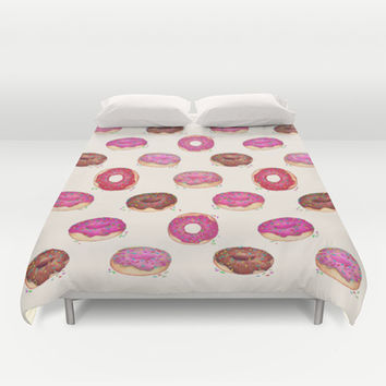 Homemade Doughnuts Duvet Cover by Perrin Le Feuvre   Society6