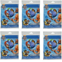 """Party Favors Licensed Paw Patrol Boys/Girls Inflatable Beach Ball 20""""-6 Pack"""