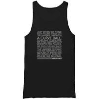 Grey's Anatomy Meredith Grey Curve Ball Quote Man's Tank Top