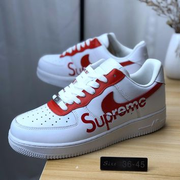 Nike Air Force 1 07 Supreme Tnf Sneakers