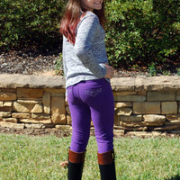 Girls Jeweled Jeggings - 3 colors
