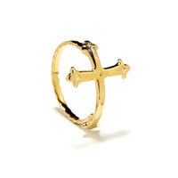 Victorian Cross Ring in Yellow Gold