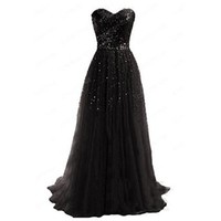Womens Sexy Strapless Long Formal Evening Party Prom Bridesmaid Dress