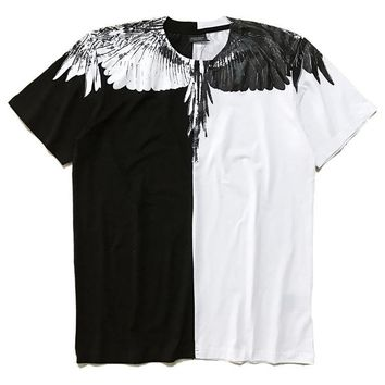 Fashion Men's Fashion Simple Design Summer Strong Character Round-neck Cotton Short Sleeve T-shirts [12171398291]