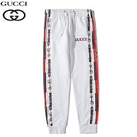 GUCCI New fashion embroidery letter couple pants White