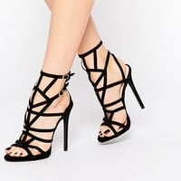 Public Desire PK Caged Gladiator Heeled Sandals